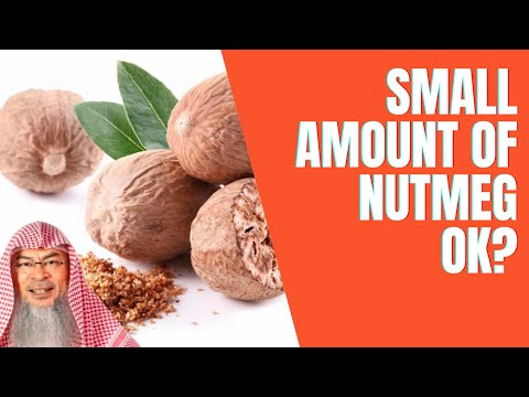 Is a small amount of Nutmeg permissible such as the minute amount of Alcohol allowed in foods?