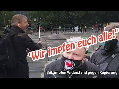 """Bekämpfen Widerstand gegen Regierung: """"Wir impfen euch alle!"""""""
