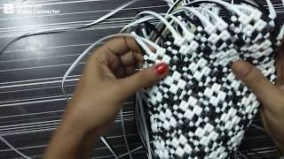 how to turn corner  in border biscuit knot basket