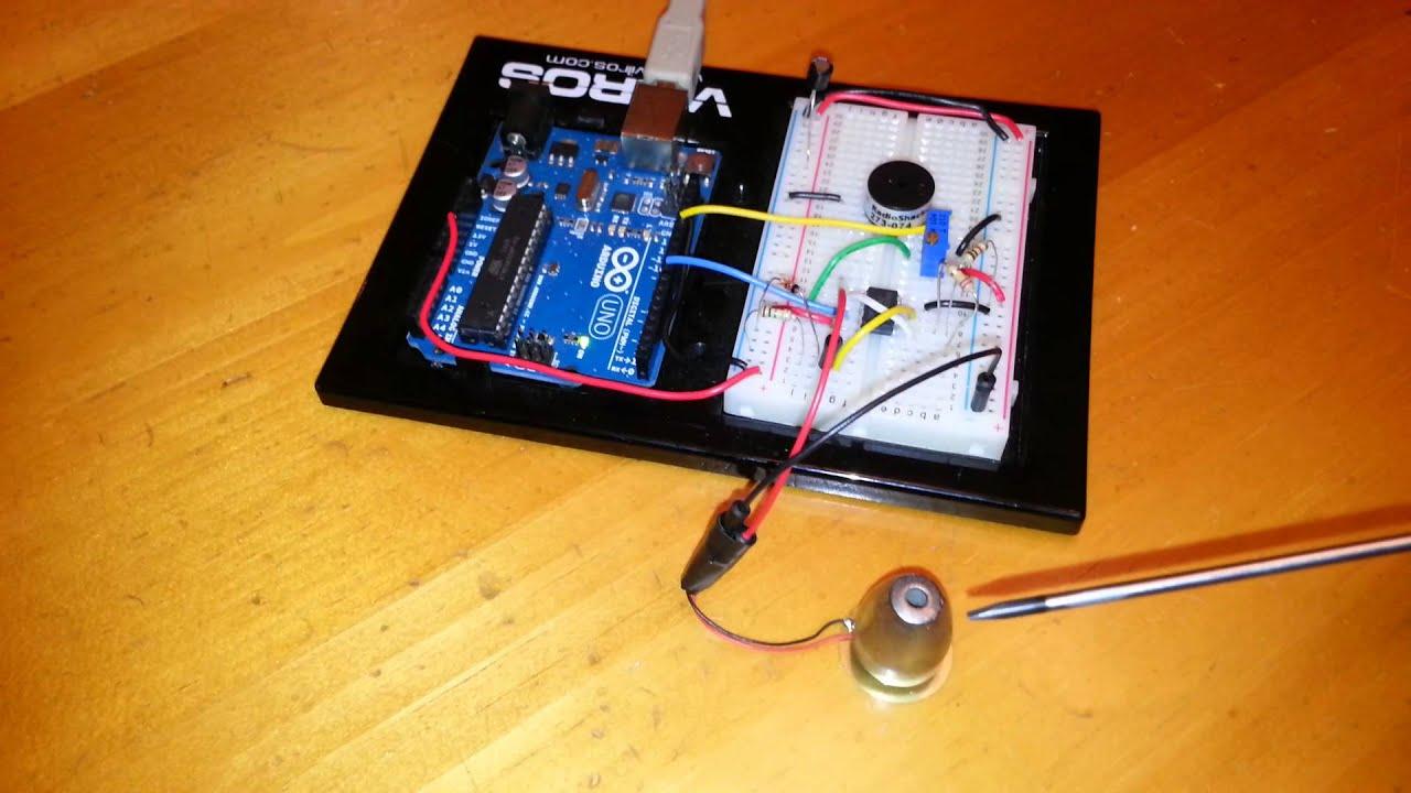 High Sensitivity Vibration Sensor Using A Piezo Element