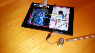 High Sensitivity Vibration Sensor Using a Piezo Element and Arduino Uno