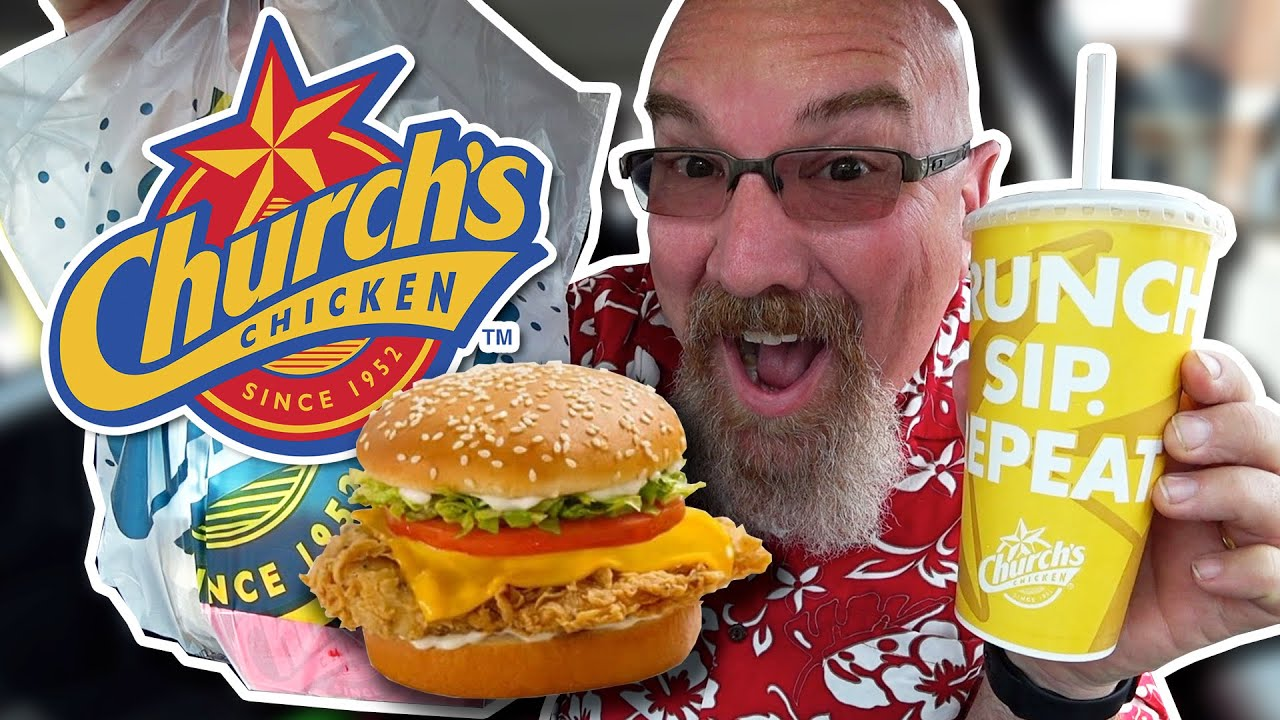 FIRST TIME EATING AT A CHURCH'S CHICKEN - Church's Chicken Tex Supreme Sandwich Combo 4K