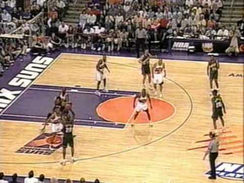 Gary Payton (34pts/9rebs/6asts/8threes) vs. Suns (1997 Playoffs)
