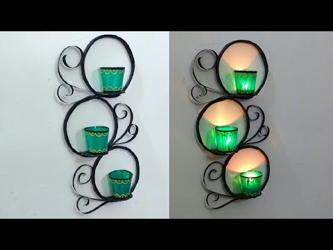 Wall Mounted Candle Holder | DIY | Newspaper Craft | Best Out Of Waste | Punekar Sneha