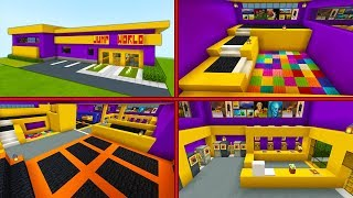 "Minecraft Tutorial: How To Make A Trampoline Park ""2019 City Tutorial"" PART 2"