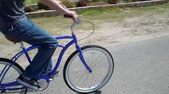 Men's BE 3 Speed Purple Blue Beach Cruiser Bike - only at Beachbikes.net