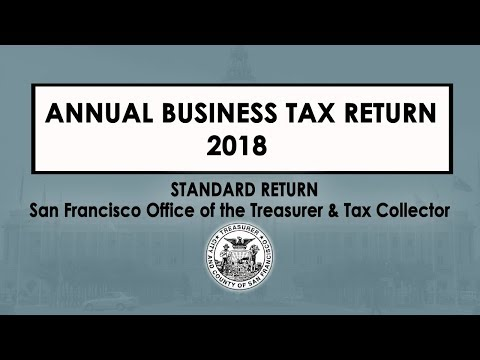 Annual Business Tax Return Treasurer