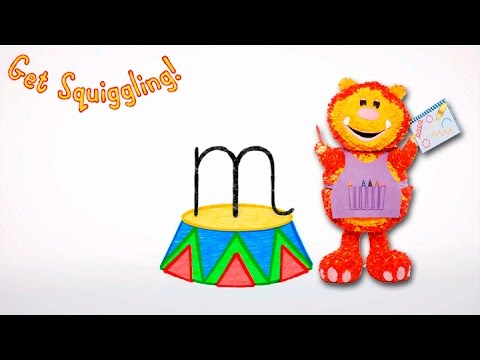 Get Squiggling Letters   Letter M