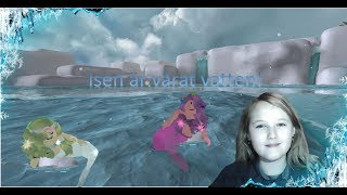 Two mermaids on the ice!/Roblox Neverland Lagoon with Nadia