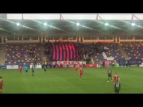 Piast Gliwice Ultras Pyro Show In Riga. Riga FC - Piast Gliwice 2:1