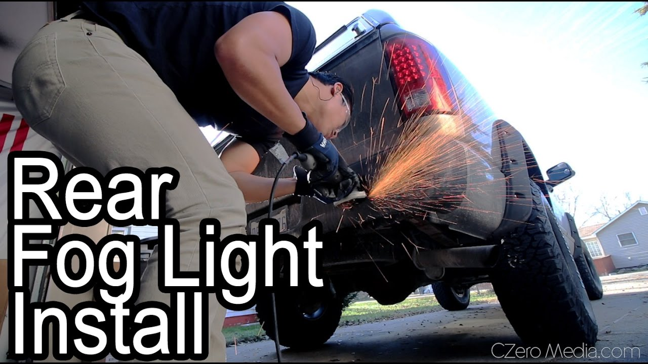 Bumper Mounted Fog Lights And Led Tail Install Project Wiring Motorcycle Asian Redneck Ram 9