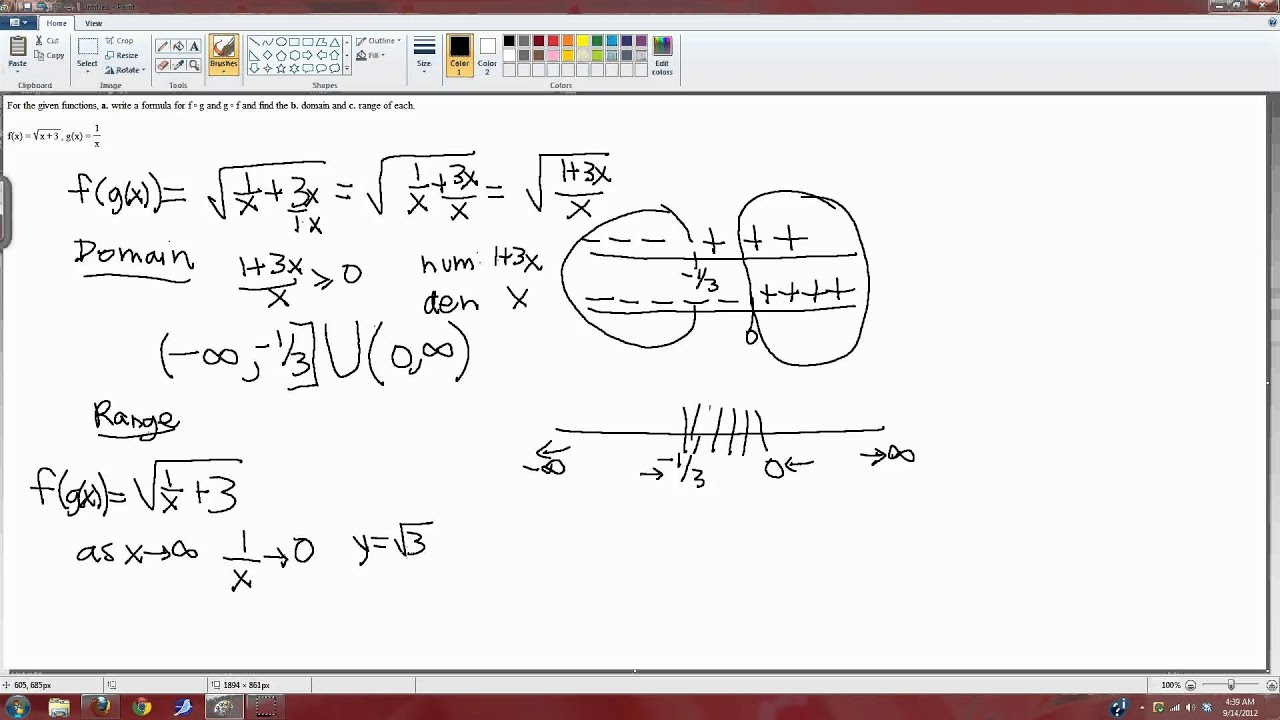 Upenn Math 103 Composite Functions Domain And Range