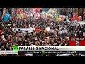 La huelga nacional contra la reforma de las pensiones paraliza Francia