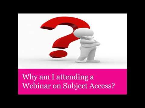 Subject access requests webinar