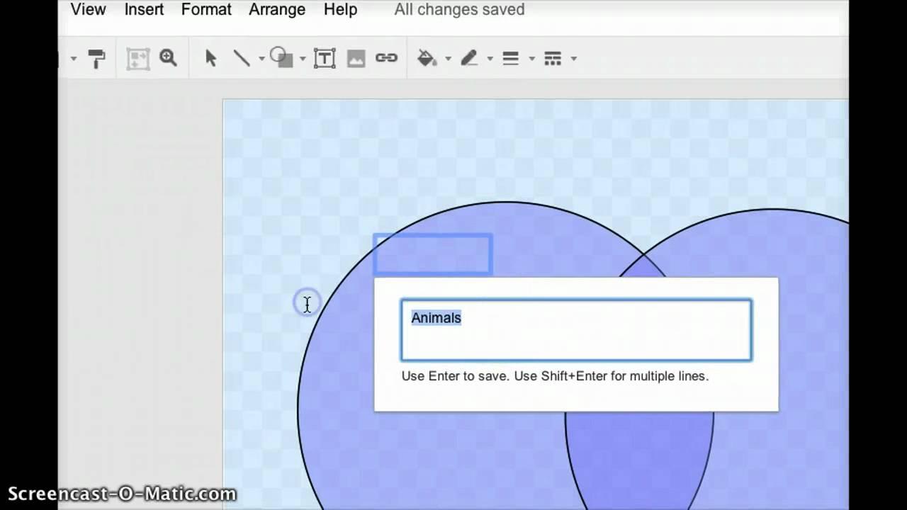 creating an interactive venn diagram for moodle