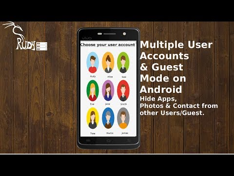 How To Create Multiple User Accounts/Guest Mode On Android- Hide Apps, Photos & Contact