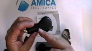 Amica Electronics Bluetooth Hands-Free Car Kit w/ Multi-point, Echo & Noise Cancellation