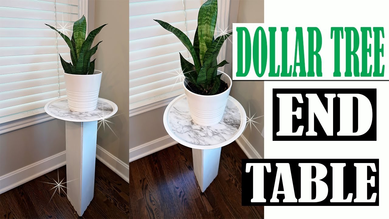 DOLLAR TREE DIY END TABLE   PLANT STAND ROOM DECOR