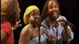 Ziggy Marley is joined by his mother, Rita and sister, Cedella to p...