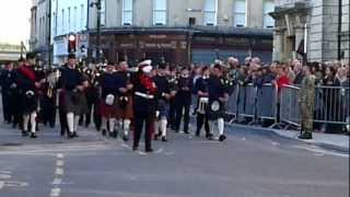 Downside Pipe band at Bath Parade 2012-11-11 14.41.44