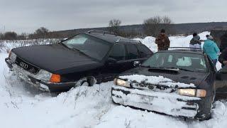 Ауди или Субару? В снегу против внедорожников!!!
