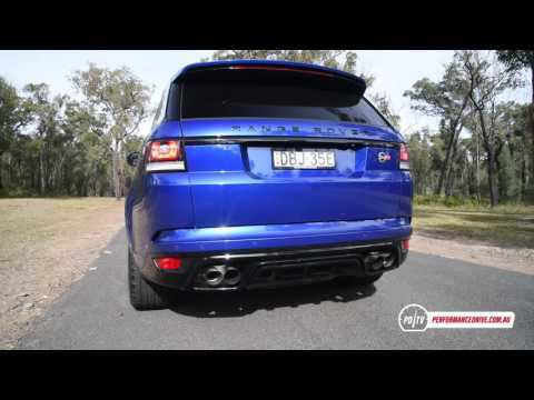 Range Rover Sport SVR 0-100km/h & engine sound