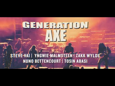 'Generation Axe Tour 2018' dates Steve Vai, Zakk Wylde, Malmsteen, Bettencourt, Tosin Abasi..!