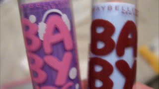 New Baby Lips 2015 Winter Edition Cocoa Crush compared to Winter Delight Hot Cocoa +Peach Kiss pt 1