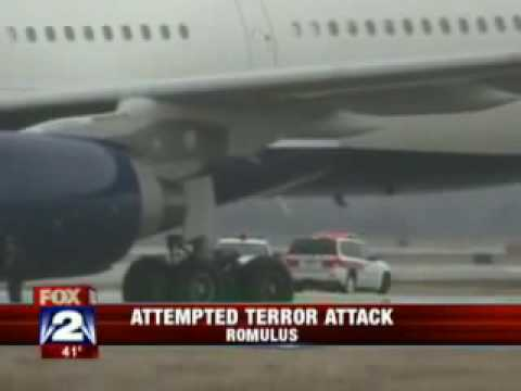 Northwest flight 253 Christmas airplane bombing attempt over Detroit