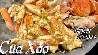 Cua xào tỏi hành và nước sauce đặc biết ăn là ghiền - Stir fry crab w/garlic scallion & crab paste