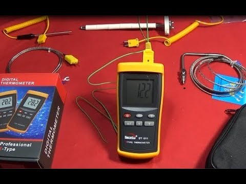 DT-1311 Professional K-Type Blacksmith Forge Thermometer & TS80 Test.