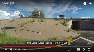 One Lane Tunnel to Love's Travel Stop, Benson, Arizona from Dragoon on I-10 West GP072352