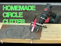 HOMEMADE DIY Circle Cutter for Metal out of an old file and vice grips
