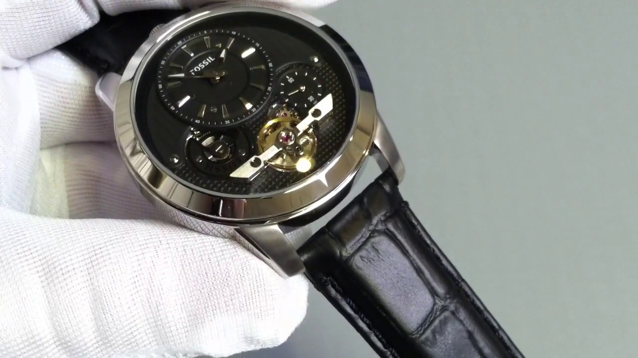 ab4101dfac76 Men s Black Fossil Grant Twist Automatic Watch ME1113 - YouTube