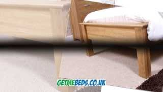 Oak Single Bed With Low Foot End