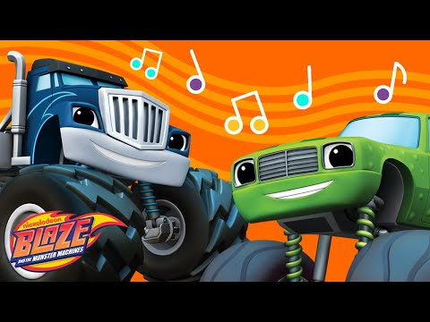 Funny Music Mix W/ Pickle From Blaze & The Monster Machines 🎵 | Nick Jr. Music