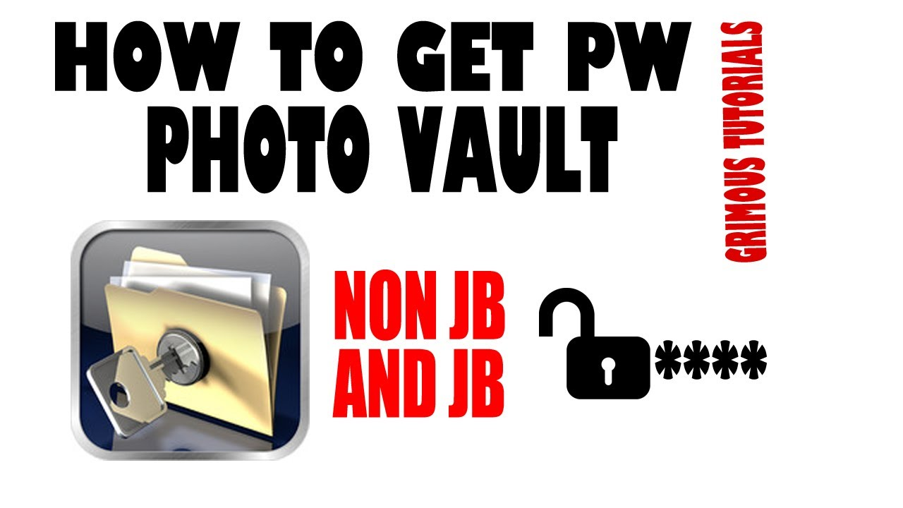 How to get into photo vault without password