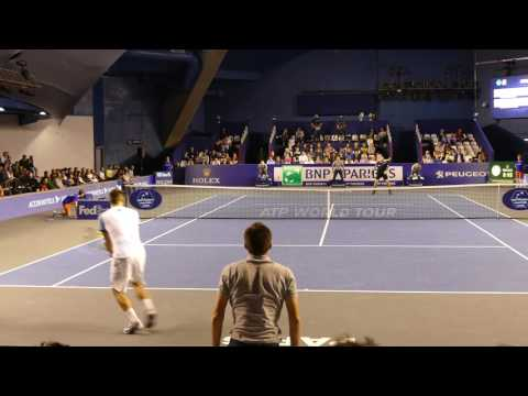 Wawrinka vs Troicki - Court Level View 2015 HD