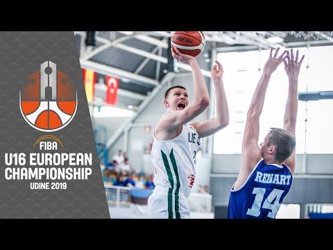 Lithuania v Estonia - Full Game - FIBA U16 European Championship 2019