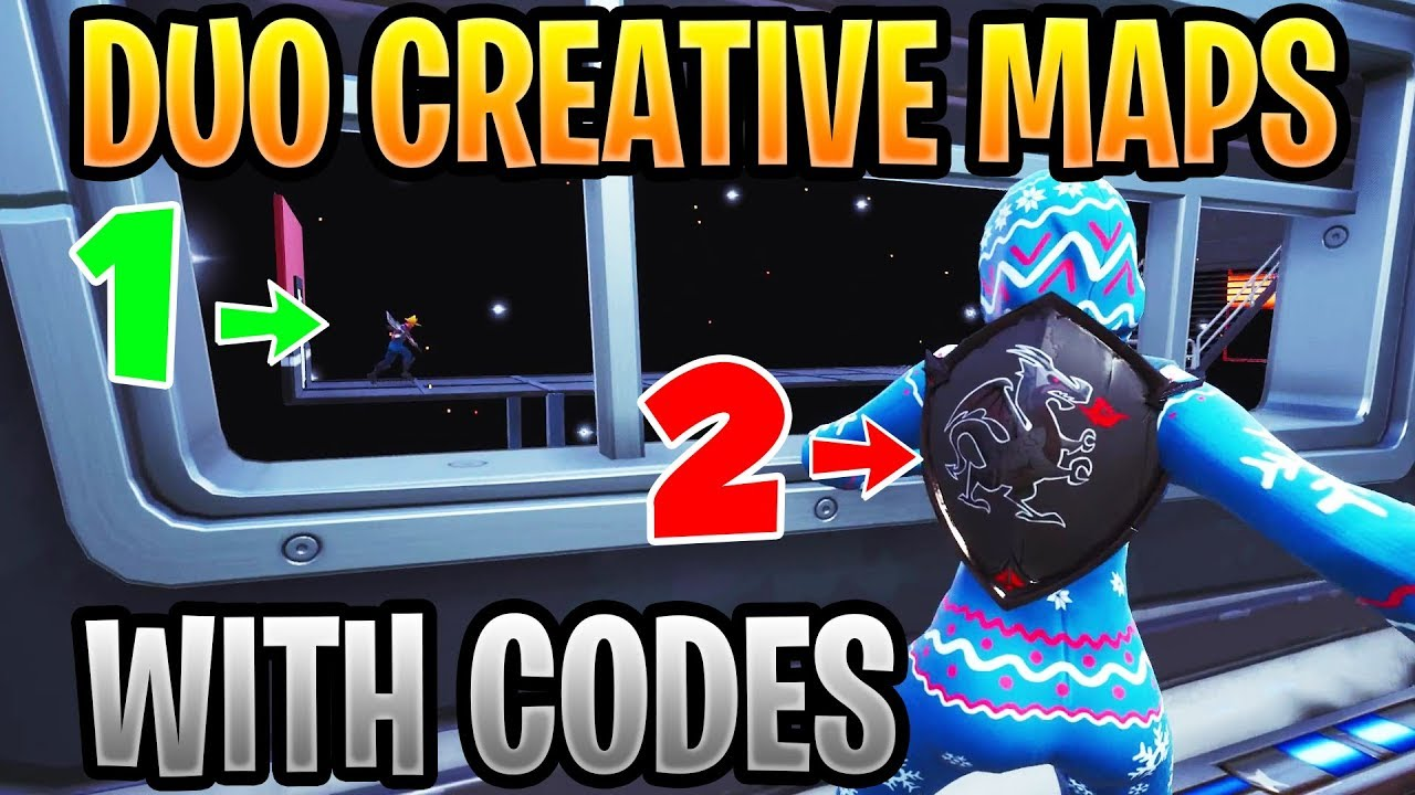 best duo maps in fortnite creative with codes co op parkour deathrun puzzle - co op fortnite creative map codes