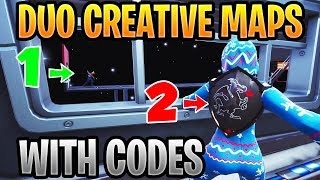 Best Duo Maps In Fortnite Creative With Codes (Co-op Parkour, Deathrun & Puzzle)