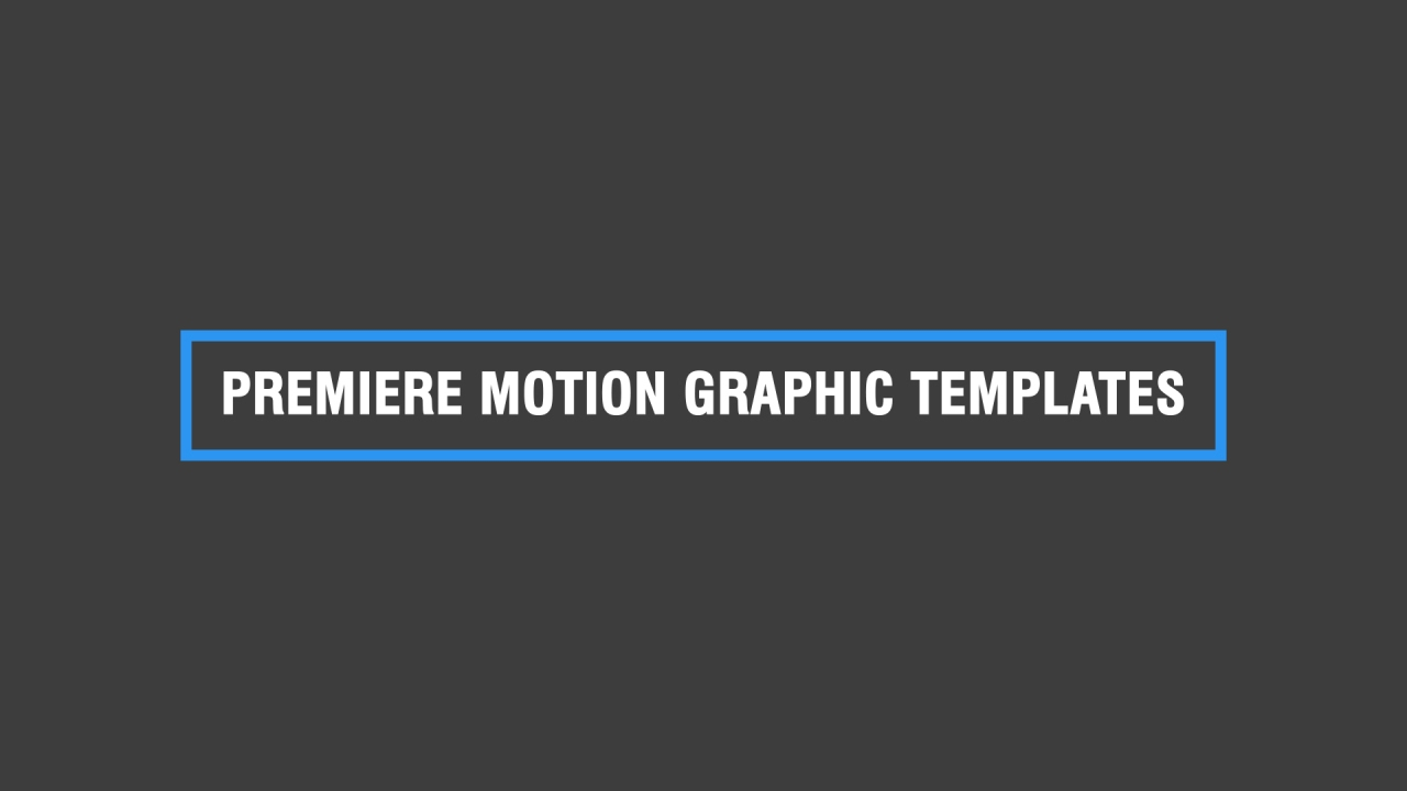 free premiere motion graphics templates premiere tutorial. Black Bedroom Furniture Sets. Home Design Ideas