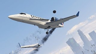 GTA 5 EXTREME AIRPLANE/ HELICOPTER CRASHES COMPILATION!!!