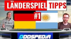 WETT-TIPPS zum Länderspiel Deutschland - Argentinien und zur EM-Quali 2020
