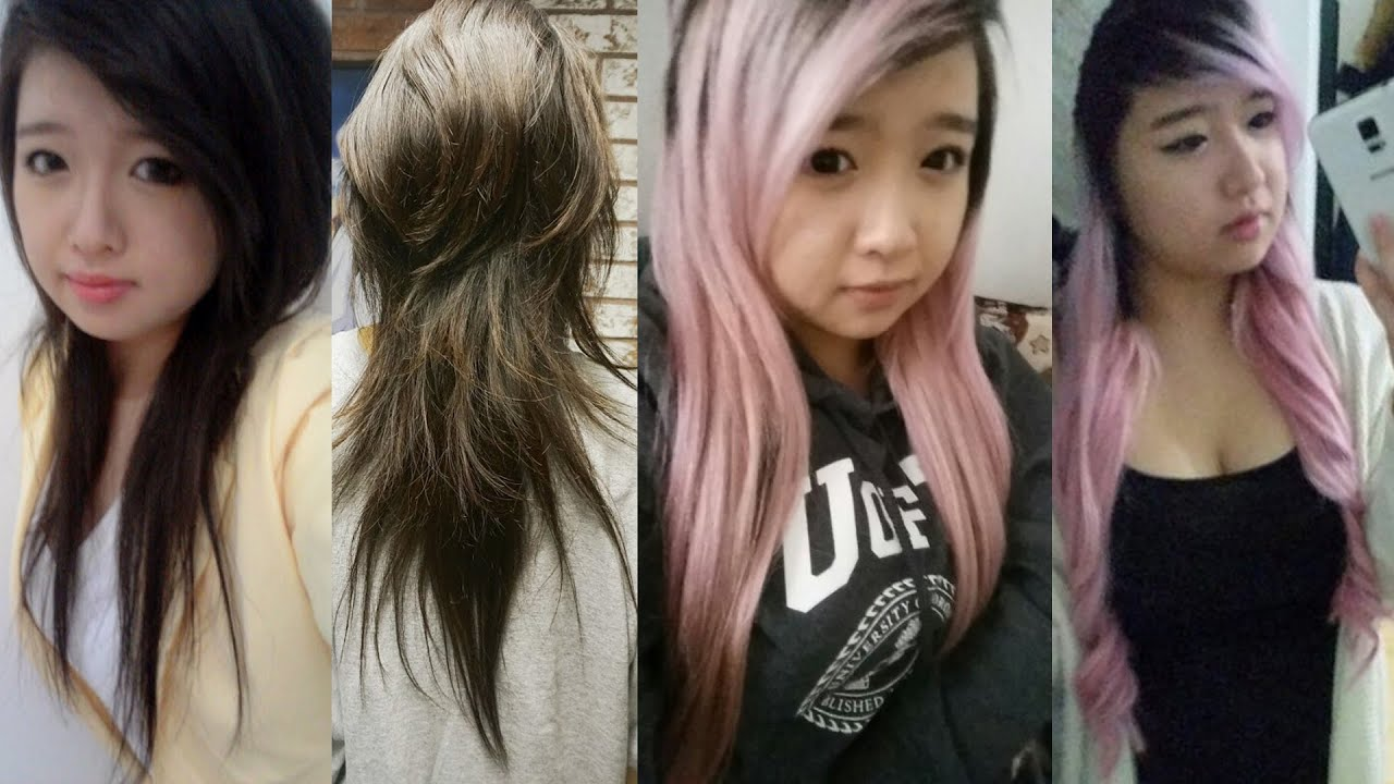 How To Get Pink Hair From Black Asian Hair Youtube