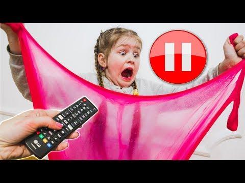 ПАУЗА СЛАЙМ  Почему Мама НЕ ДВИГАЕТСЯ? Яна ПОСТАВИЛА ВСЕХ На ПАУЗУ! 24 ЧАСА ПАУЗА ЧЕЛЛЕНДЖ