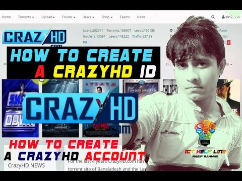 How to Create a crazyhd account | new tutorial | Ict help line | Rasif rahman