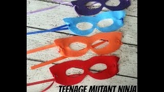 DIY Teenage Mutant Ninja Turtle Masks