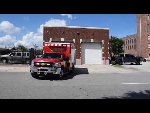 Jacksonville Fire Rescue Department Rescue Unit Responding to a Call from Quarters