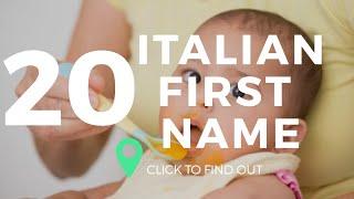 Top 20 Italian First Names  Italian Baby names